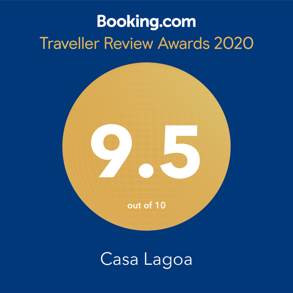 Booking.com Guest Review Awards 2018 9.5 out of 10 Casa Lagoa